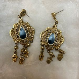 Antique earrings and hoops